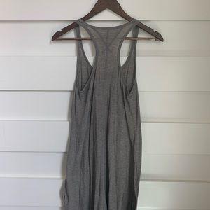 Pete&Greta // Grey and White Striped Midi Dress